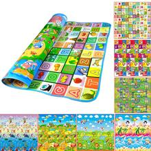 Brand new Thick Baby Play Mat 200*180*0.5cm Fruit Letters And Happy Farm Child Beach Mat Picnic Carpet Baby Crawling Mat(China (Mainland))