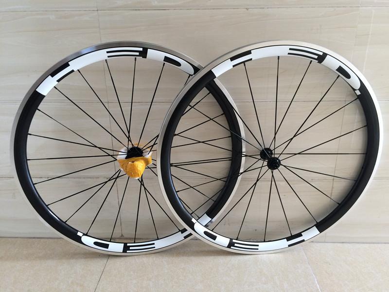 Carbon alloy clincher wheel 38mm 3k matte external aluminum brake free 700c 38mm carbon Alloy wheel