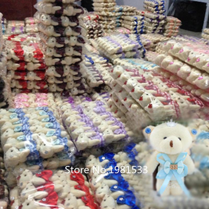 11cm New Anime Cartoon Tsum Tsum Plush Toy Bear Foll Wedding Present Children Toy Phone Key Pendant(China (Mainland))