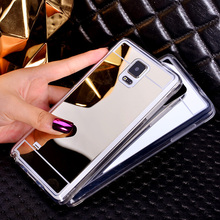 Mirror Cover For Samsung Galaxy S6 / S6 Edge Luxury Electroplate Mirror Back Case TPU Phone Case Back Cover For S6 /S6 Edge