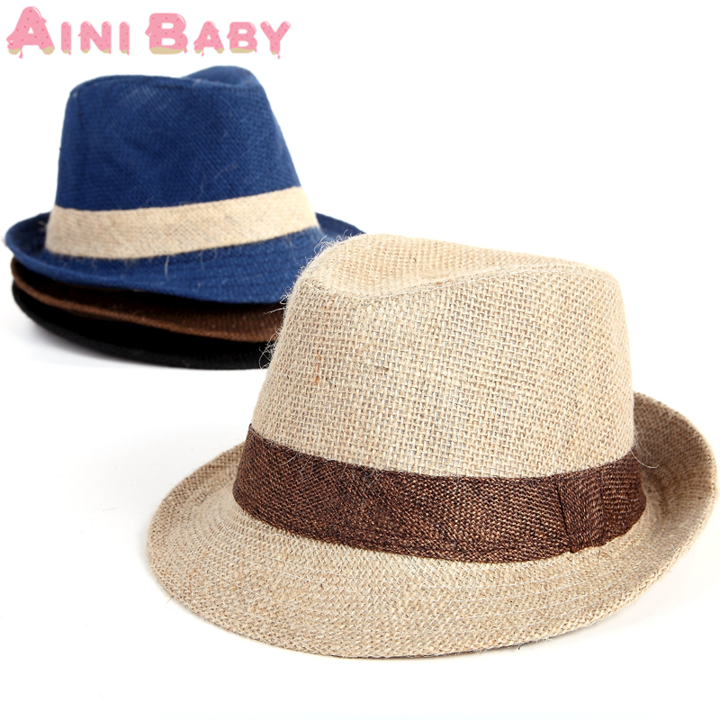 Flax Solid Color Mixing Style Baby Hat Baby Cap For Child Hat Lovely Jazz Cap For Boy Girl Hat Newborn Photography Prop Trilby(China (Mainland))