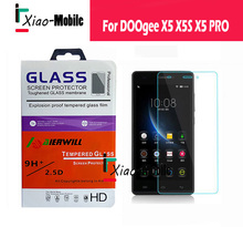 DOOGEE X5S Tempered Glass 100% Original Explosion-proof&Scratch-proof Screen Protector film  For Doogee X5 X5S X5 PRO PHONE(China (Mainland))