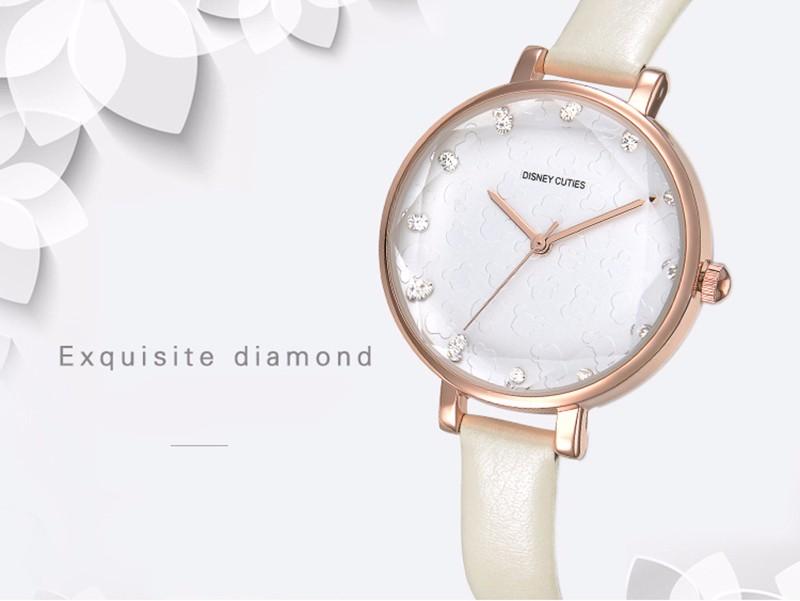 DISNEY New Fashion Brand Women Casual Quartz-Watch Clock Lady Girl Diamond Analog Dress Watch Relojes Waterproof Wristwatch