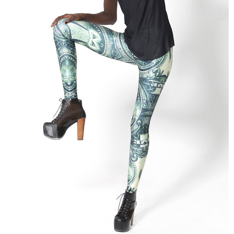 European dollar stretch feet nine minutes of leggings The starry sky digital printing leggings(China (Mainland))
