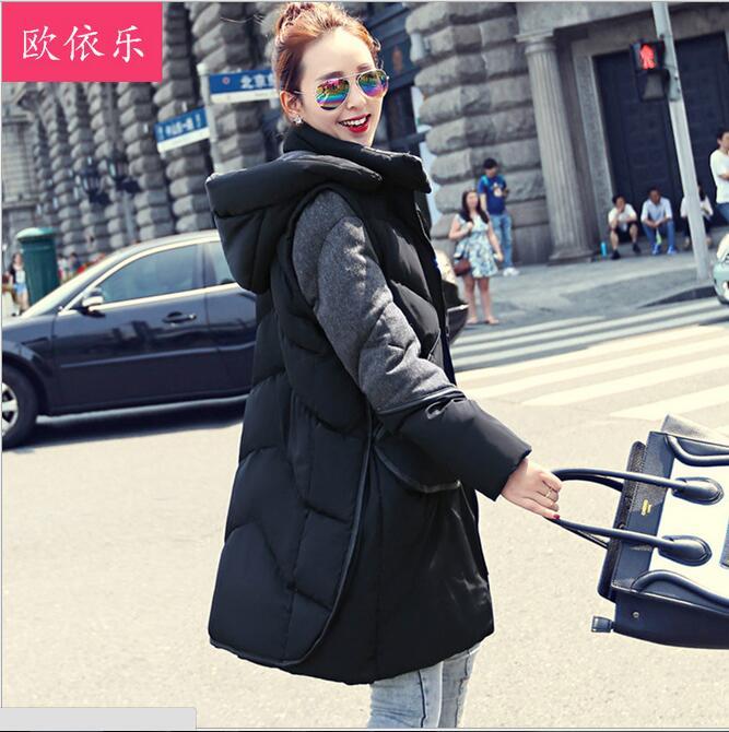 2015 New! winter jacket women Long hooded coat thick warm female cotton coats plus size clothing