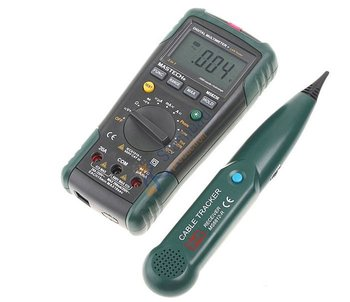 2 in 1 MASTECH MS8236 Auto Range Digital Multimeter + Network Cable Track Tester Wire Line Telephone Tracker, Net price