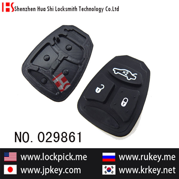 brand new car lockpick tools 3 button remote rubber/replaceable pad 029861(China (Mainland))