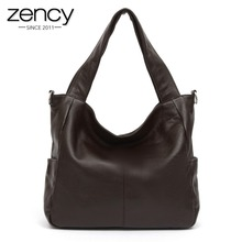 Buy 3 Size Casual NEW Fashion Big Bags Ladies Large 100% Genuine Leather Women's Shoulder Handbag Bucket diagonal Purse Satchel for $54.52 in AliExpress store