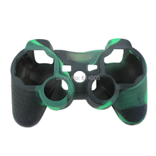 Light green Camouflage Silicone Skin Case Cover for Sony PS2/3 Wireless/Wired Controller