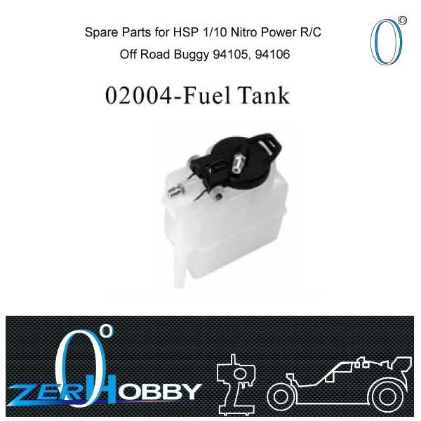 RC CAR SPARE PARTS FUEL TANK FOR HSP 1/10 NITRO BUGGY RC CAR 94106, 94106 (part no. 02004)