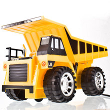 Remote Controlled Chargeable RC Truck bulldozer navvy rooter toys for children big truck(China (Mainland))