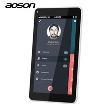 New Aoson S7 WCDMA 3G phablet IPS 1024*600 QUAD CORE phone Tablet PC Android 5.1 1GB+8GB Bluetooth GPS WIFI 5MP camera dual card