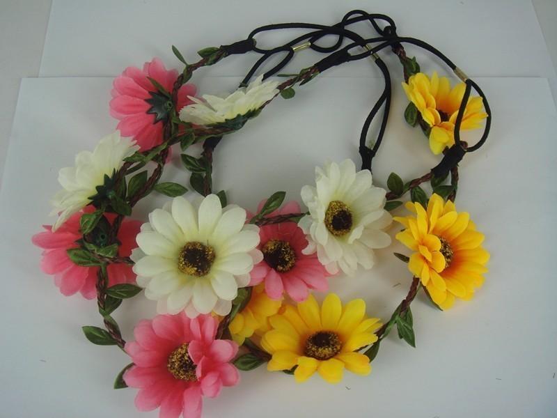 12PCS Flower Fascinator Headpiece Bride Tiara Wedding Prom Hair Band Headband A8(China (Mainland))
