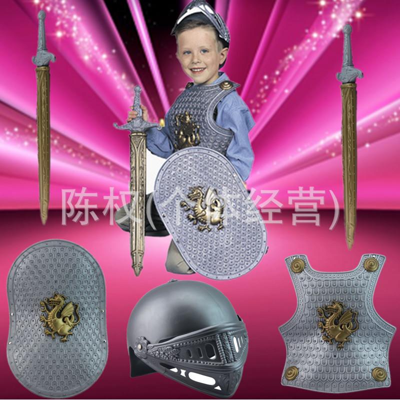 2014 Promotion Real Fantasias Fantasia Infantil Disfraces Christmas Costume Children Masquerade Armor Roman Soldier Arena Game(China (Mainland))