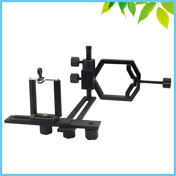 Universal Telescope Stand Mount Metal Spotting Scopes Monocular Bracket Adapter with Clip for Mobile Phone Digital Camera<br><br>Aliexpress