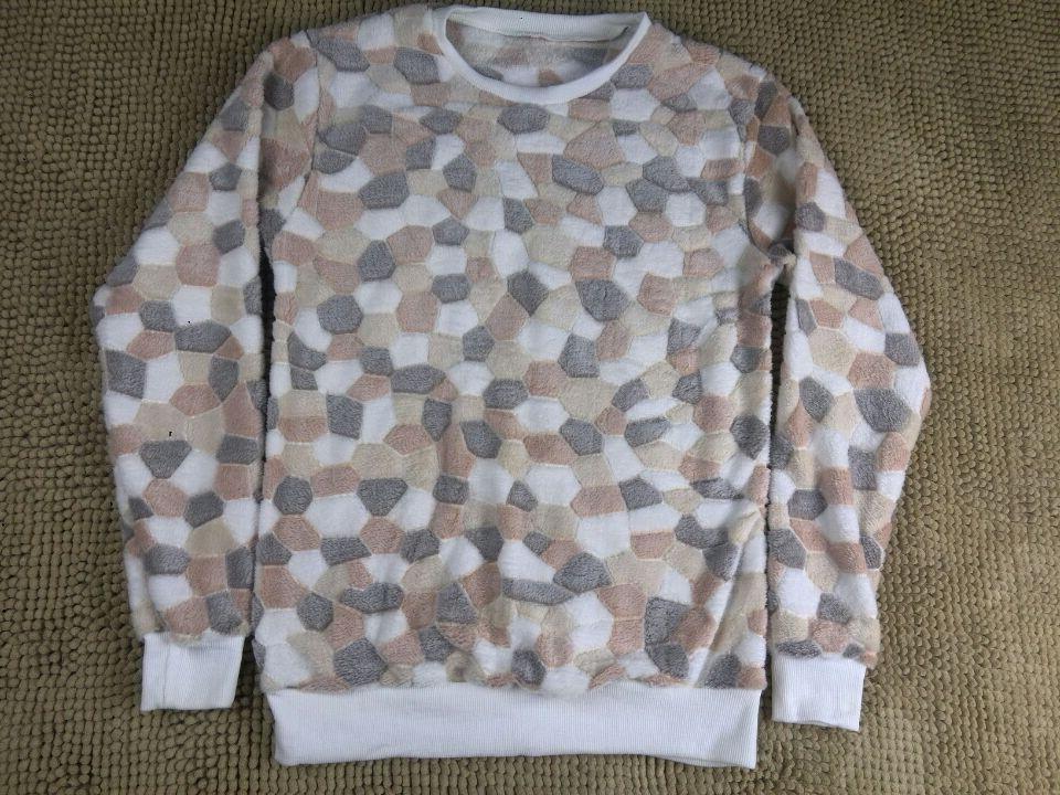 Hedging fleece Sweatshirts geometric patterns Brown round neck hedging free shipping(China (Mainland))