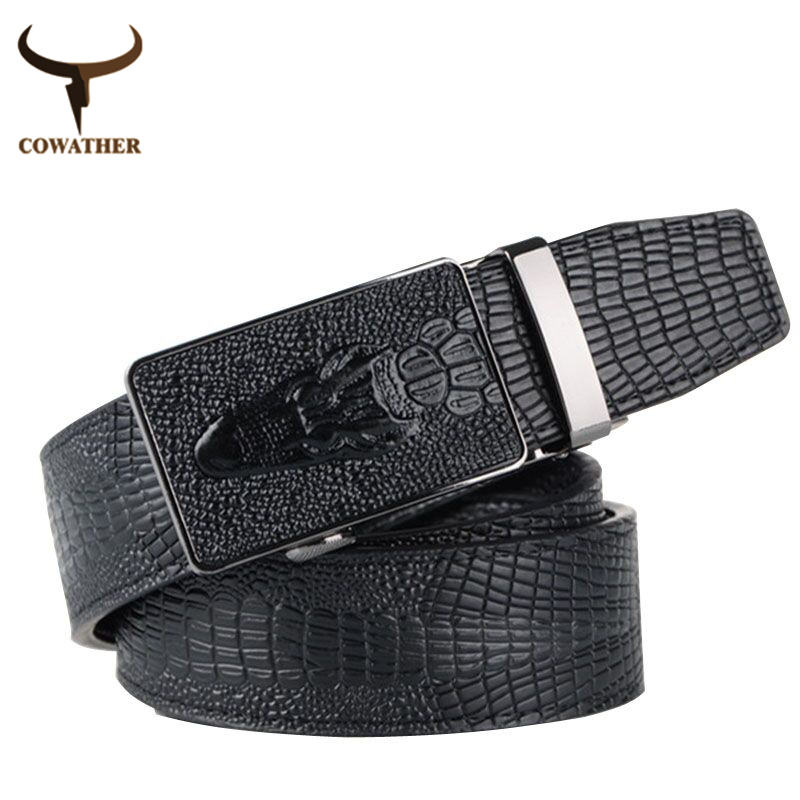 2015 fashion top quality faux leather belts for men,belt male Crocodile automatic buckle men belt,cinto masculino free shipping(China (Mainland))