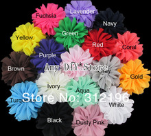 Free Shipping!60pcs/lot 3.2 Inch Chiffon Flowers,Fabric Flowers For Headbands,Kids Hair Accessories Ballerina Flowers Unfinished(China (Mainland))