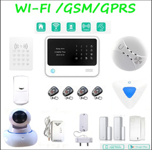 Factory price  Home security GSM WIFI alarm system with GPRS IOS Android APP Burglar Alarm System
