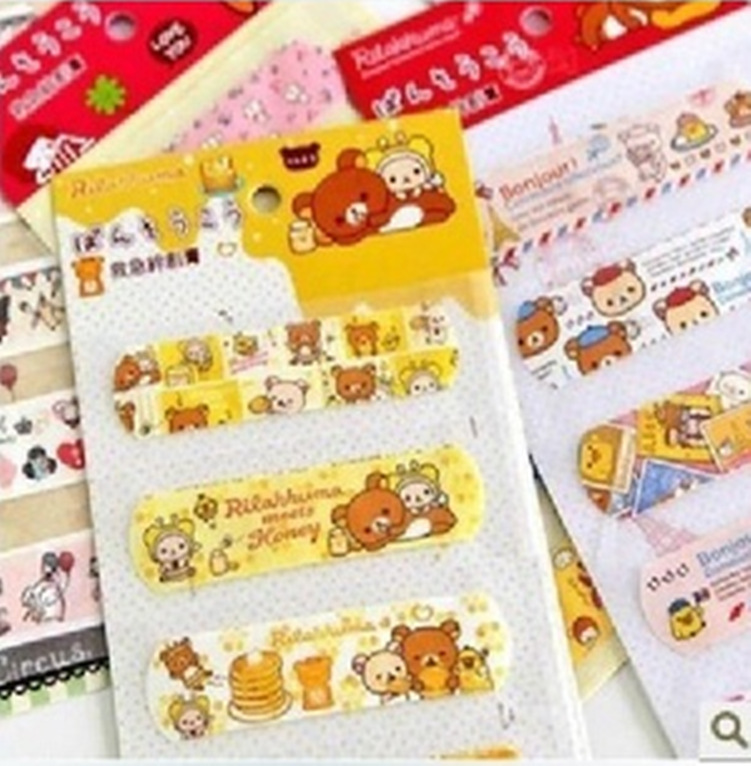 2136 Korean version of the cartoon cute outdoor travel essential color cartoon-type band-aid bandage five loaded(China (Mainland))