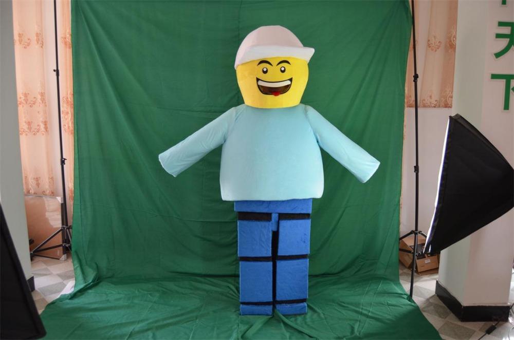 customized 2 lego Mascot Costume Adult Character Costume Cosplay mascot costume free shipping(China (Mainland))