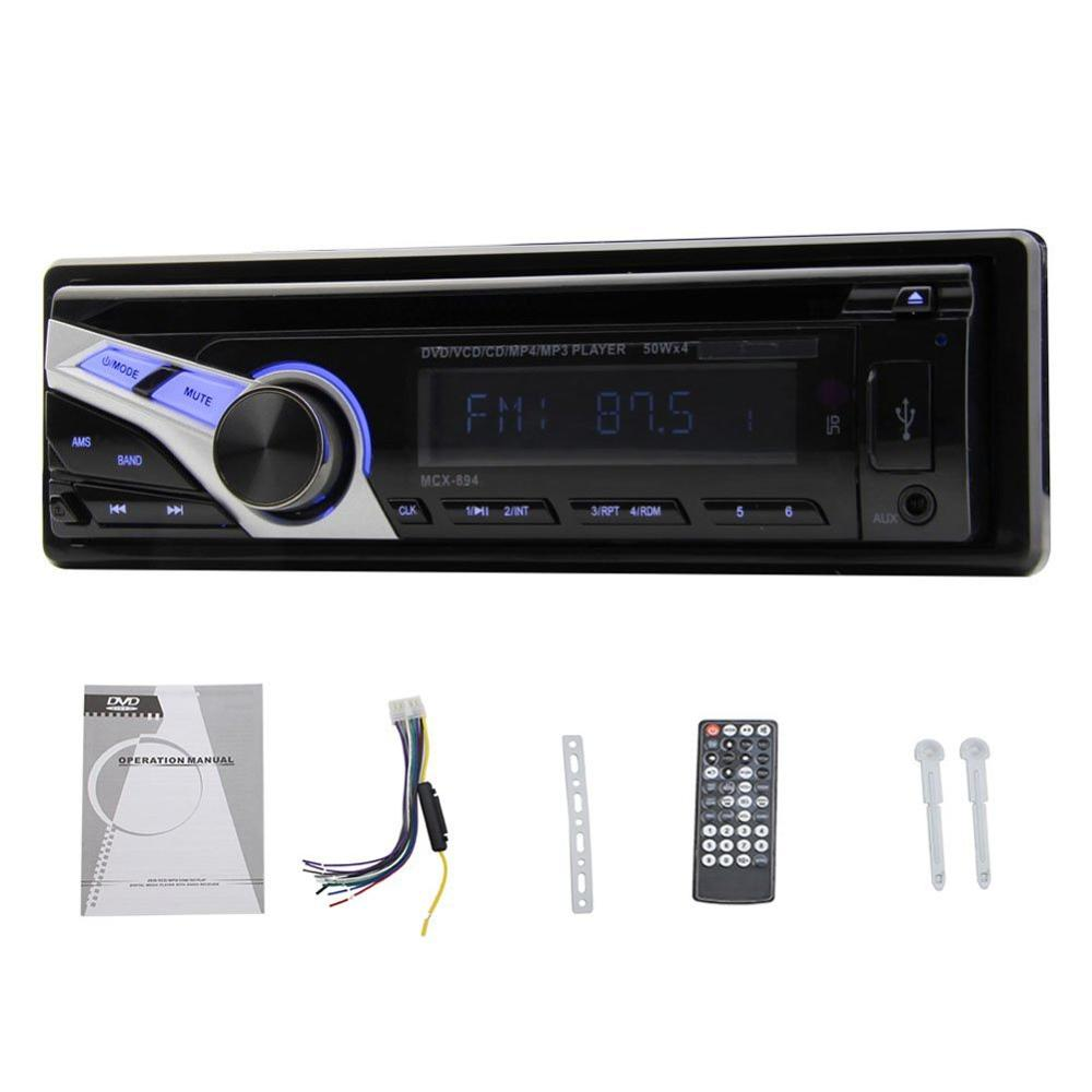 Фотография Just Arrival! 1 Din Car Stereo Audio Single Din In-Dash Headunit FM Aux Input Receiver with SD USB MP3 WMA Radio