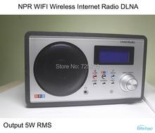 NPR WIFI Wireless Internet Radio DLNA Multimedia Music Radio Player Support LAN Port 5W RMS 12 Clock and Alarm(China (Mainland))