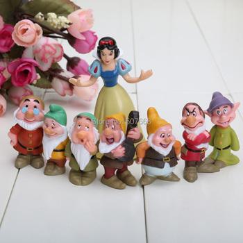 Seven Dwarfs figures Snow white 8pcs=1set  free shipping