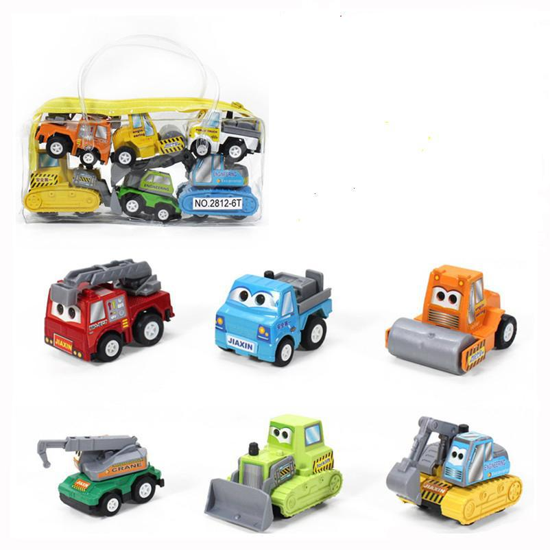 6pcs/set multicolor plastic mini pull back Vehicle car for model baby children kids toys gifts girls and boys(China (Mainland))
