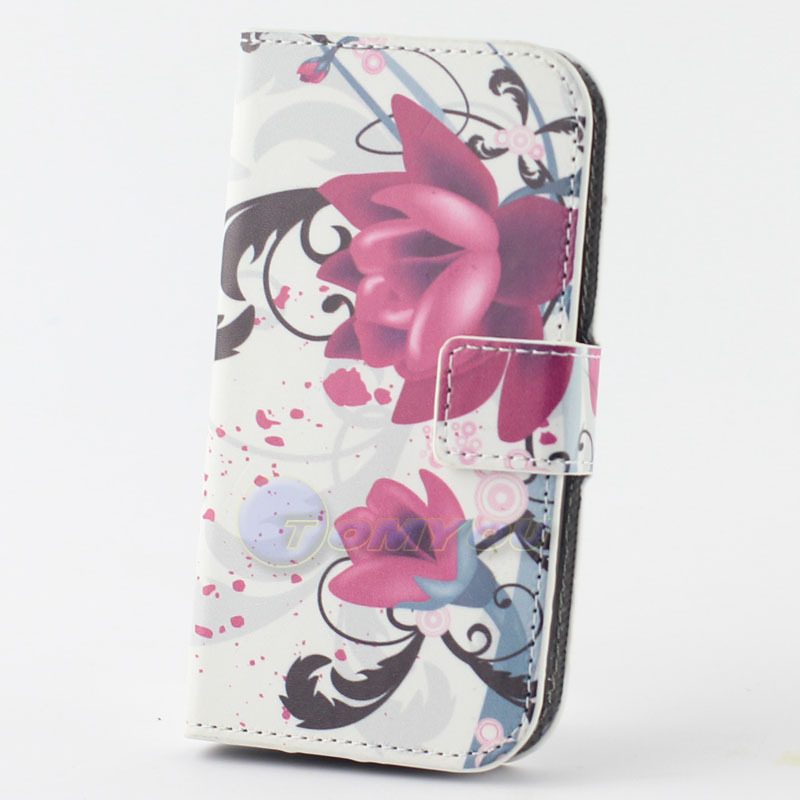 Cute Butterfly PU Leather Football & Pageant Plum Flower Flag Stand Holder Wallet Flip Case Cover For HTC Desire 310 Phone Case(China (Mainland))