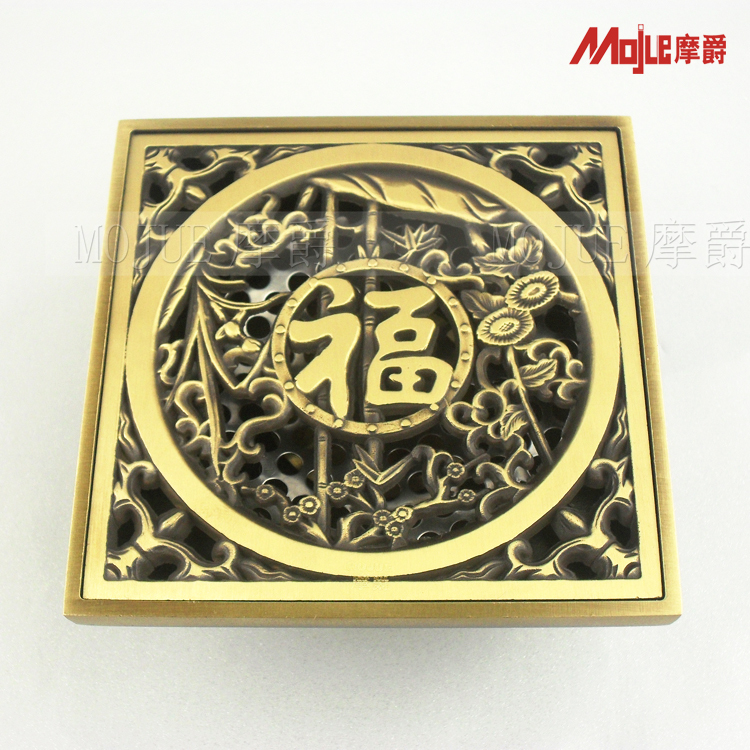 free shipping Copper antique anti-odor fashion shower floor drain cover(China (Mainland))