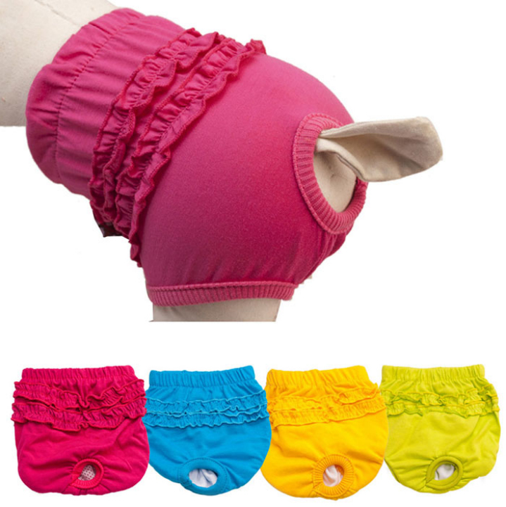 Amazing New Cute Pet Dog Panty Brief Bitch In Season Sanitary Pants For Dog Girl Female(China (Mainland))