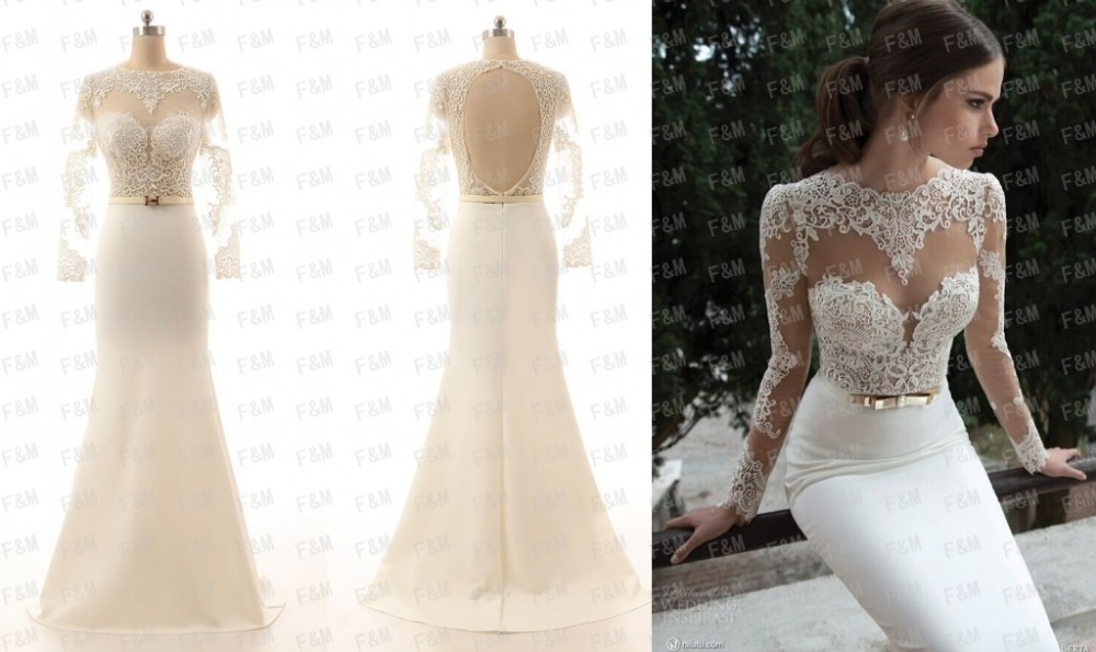 Long white dress with lace