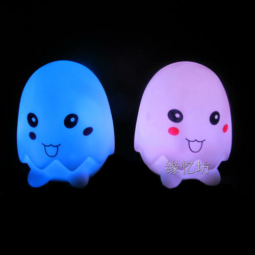 New Colorful Changing 7 Color LED Eggshell Party Candle Lovely Night Light(China (Mainland))