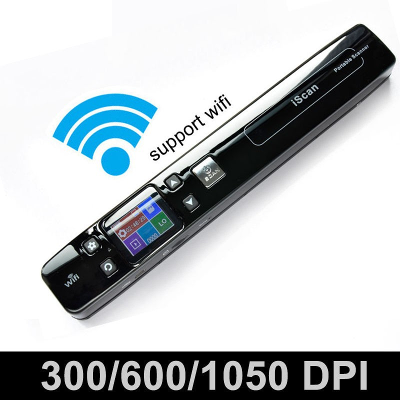 iSCAN 1050DPI Wireless Wifi LCD Portable Scanner A4 Size Book Document Photo Handyscan JPG / PDF Format Support TF Card to 32GB(China (Mainland))
