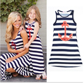 summer matching mother daughter dresses stripe mother daughter clothes family look sleeveless maxi family matching clothes