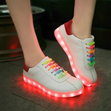Women men basket lady Glow Footwear tenis Led Light up feminino Luminous Chaussure femme Trainers Shoe with USB for Male Adults(China (Mainland))