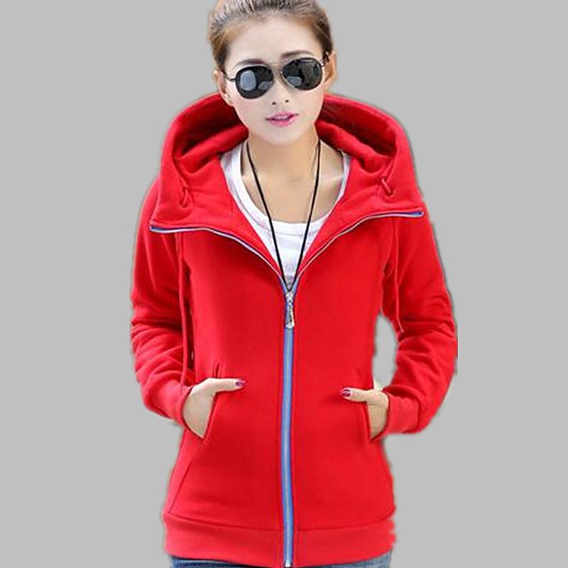 XL-6XL size 2015 winter korean style extra plus black red casual warm jacket women fleece hoodies - 5A Online Store store