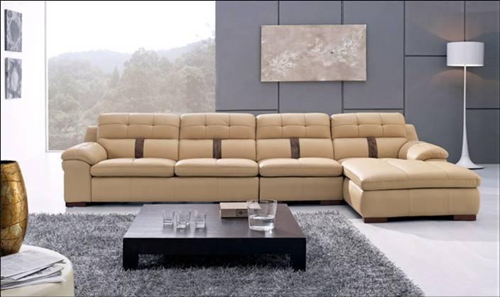 Modern Home Furniture 2013 Living Room Furniture Top Grain Leather L Shaped Corner Sectional