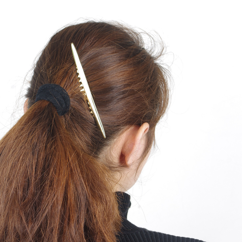 1PC HOT Women Lady Baroque Style Gold Metal Moon Hair Clip Hair Comb Hair Barrettes Accessories(China (Mainland))