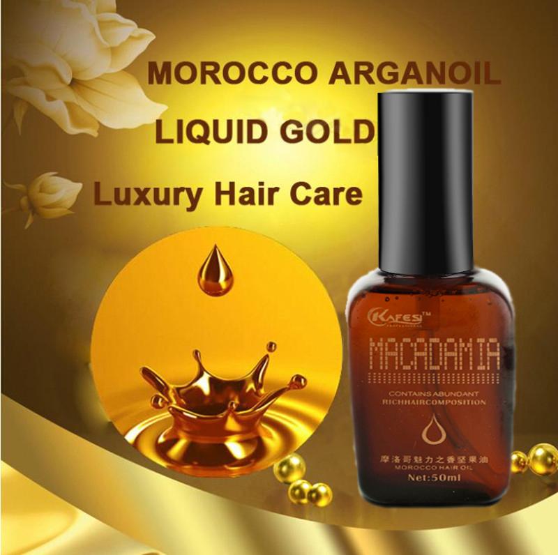 KAFESI 100% PURE Organic Morocco Hair Oil Nut Oil 50ml Argan Oil for Hair Care for Dry and Undiscined Hair