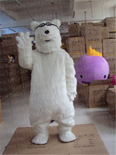with glasses Polar bear mascot costume olaf  minion halloween costumes party dinosaurs fancy dress christmas gift