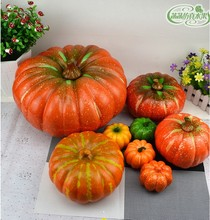 artificial fake decorative pumpkin Halloween Props faux vegetables Pretend Play photography property  food(China (Mainland))