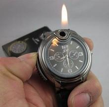 Free shipping New 2014 Military Lighter Watch Novelty Man Quartz Sports Refillable Butane Gas Cigarette Cigar Men Watches