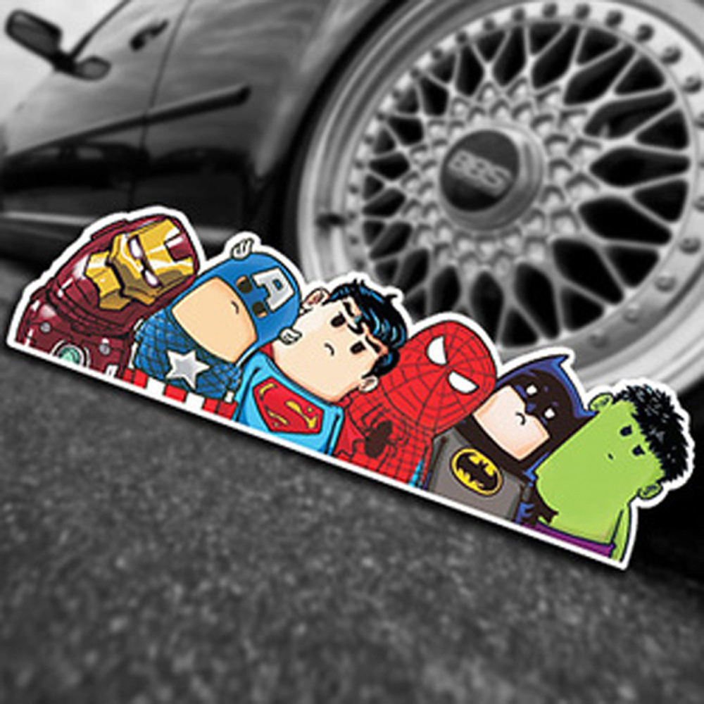2015 New Arrival Car-styling Stickers Car Styling Decor Cartoon Avengers Reflective Decorative Art Car Accessories Sticker(China (Mainland))