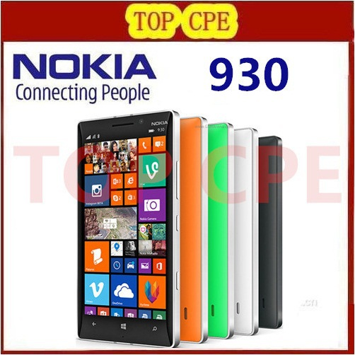 "Original Nokia Lumia 930 Unlocked 32GB Quad Core 2.2GHz 2G RAM 5.0"" 20.0MP WIFI GPS NFC Windows Phone Free shipping(China (Mainland))"