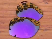 Plasma Purple Mirror Polarized Replacement Lenses For Jupiter Squared Sunglasses Frame 100% UVA & UVB Protection