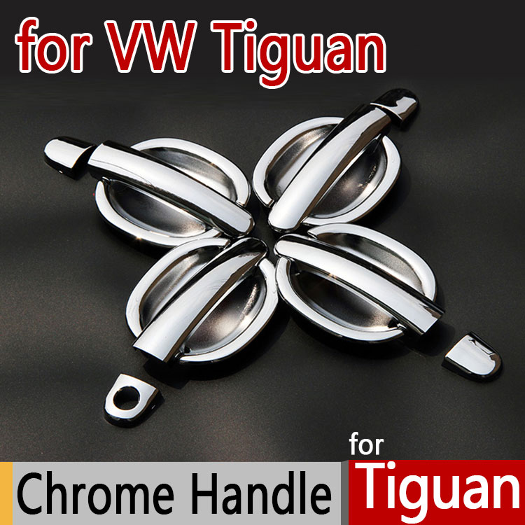 Hot Sale Luxurious Chrome Exterior Door Handle Covers For VW Tiguan Accessories Chromium Stickers Car Styling(China (Mainland))