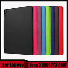 Buy 3 1 Luxury Litchi Pattern PU Leather Case Cover lenovo Yoga 3 850F YT3-850F YT3-850M YT3-850L + Screen film + Stylus for $8.49 in AliExpress store