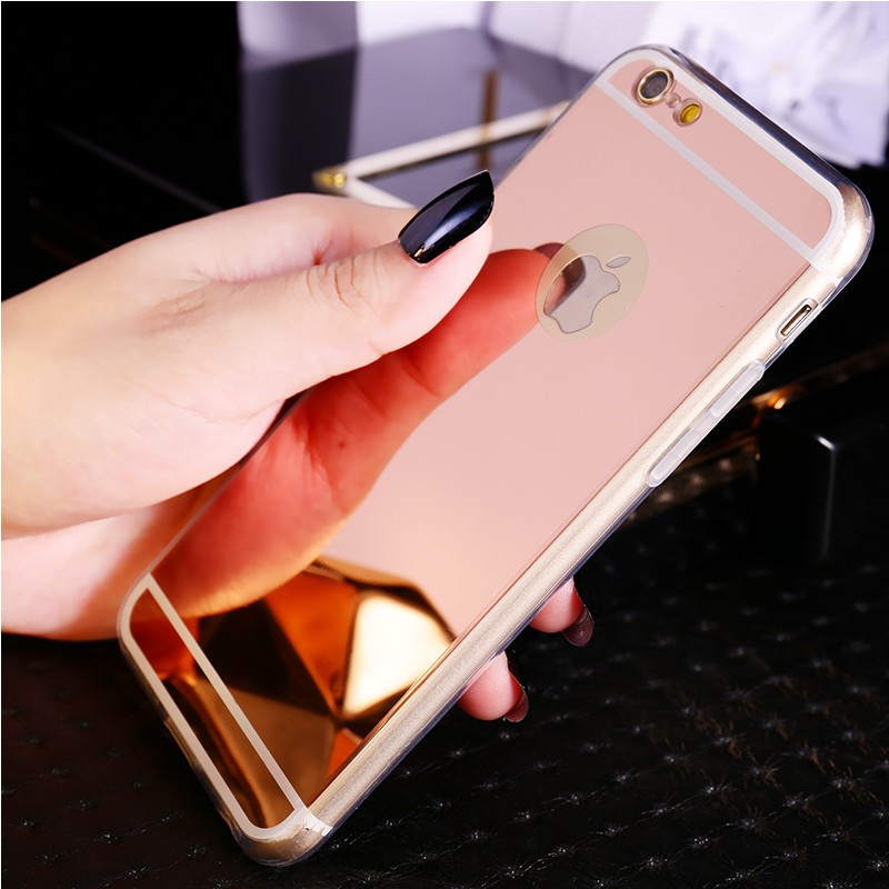Cases Rose Gold Silver Luxury Make Up Mirror Soft Plating TPU Case For MeiZu Mei Blue MX6 Note X Crystal Back Case Cover Capa(China (Mainland))